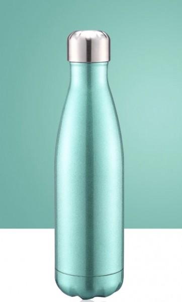 BRO77 vakuumisolierte Wasserflasche aus Edelstahl Design Metallic Grün