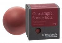 Naturseife Kugelförmig 40 g, Granatapfel Sandelholz