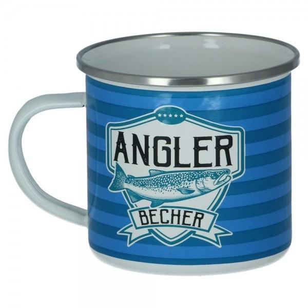 Emaillebecher Angler