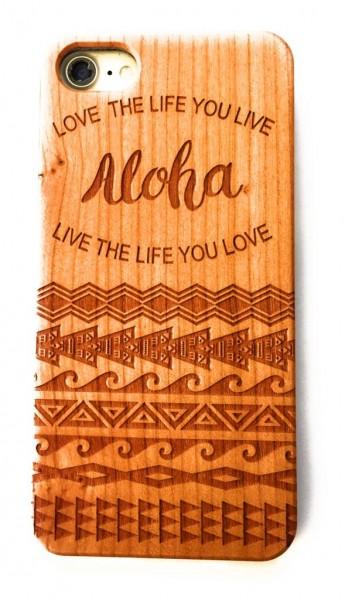 Handy Cover Holz Motiv Aloha