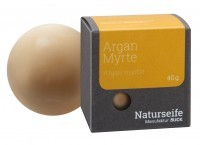 Naturseife Kugelförmig 40 g, Argan Myrte