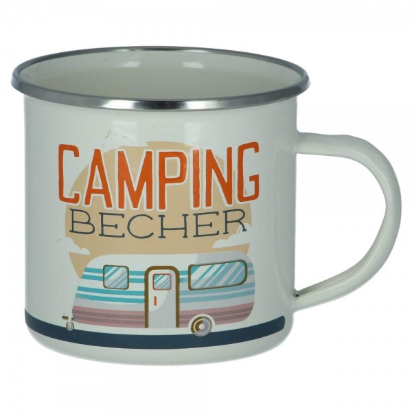 Emaillebecher Camping