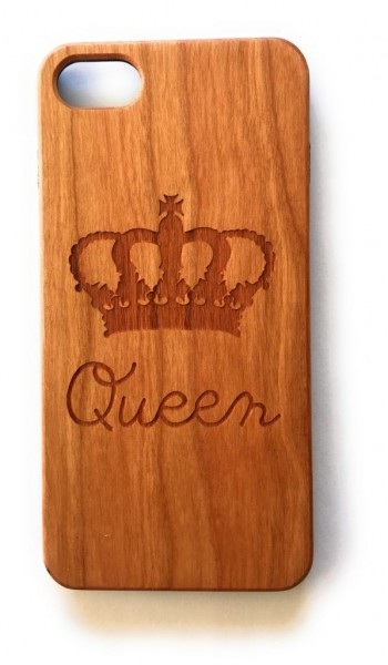 Handy Cover Holz Motiv Queen