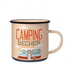Emaillebecher »Camping«