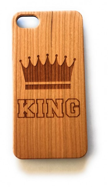 Handy Cover Holz Motiv King