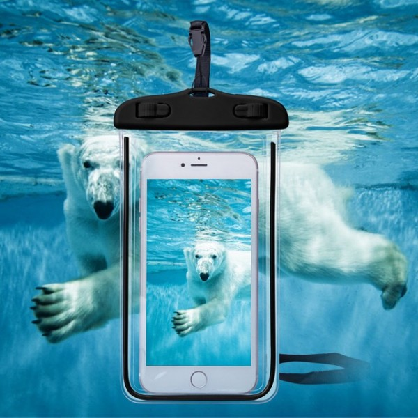 Wasserdichte Tasche für Handy Schwarz
