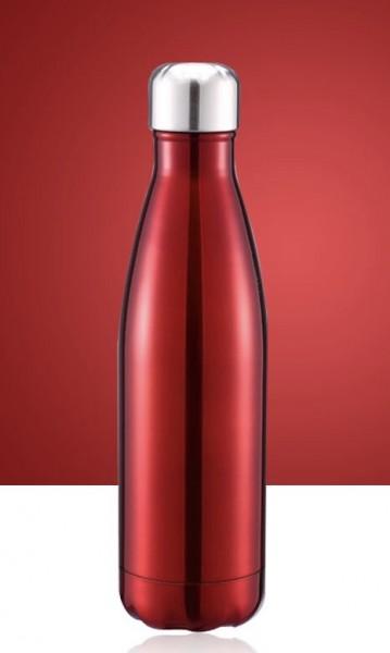 BRO77 Vakuumisolierte Wasserflasche 500ml aus Edelstahl Farbe weinrot
