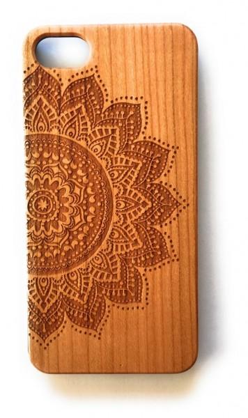 Handy Cover Holz Motiv Mandala